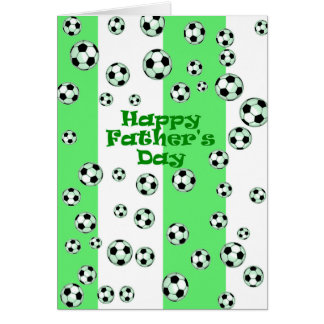 Het gelukkige Voetbal van het Vaderdag Wenskaart
