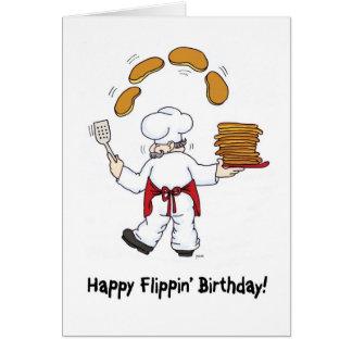 Het gelukkige Wenskaart van de Verjaardag Flippin