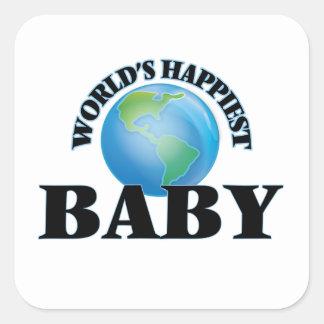Het Gelukkigste Baby van de wereld Vierkant Stickers