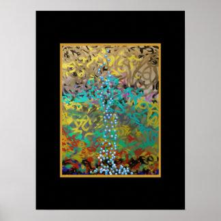 Het gemengde Abstracte Ontwerp van Deegwaren Poster
