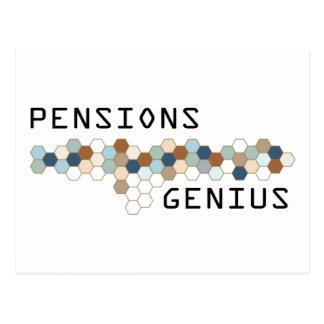 Het Genie van pensioenen Briefkaart