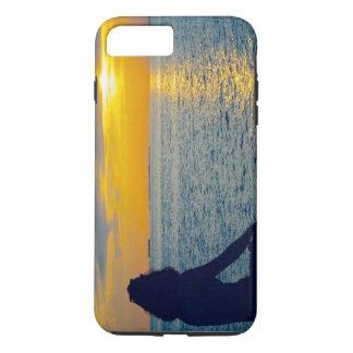Het genieten van de van zonsondergang iPhone 8/7 plus hoesje