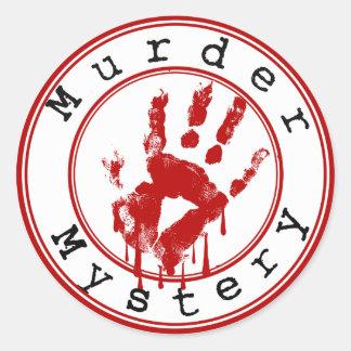 Het Genre van de Geheimzinnigheid van de moord om Ronde Sticker