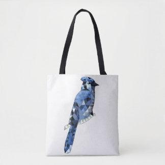Het geometrische Blauwe Canvas tas van de Vlaamse