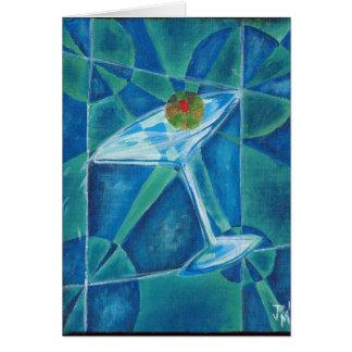 Het geometrische Glas van Martini Briefkaarten 0