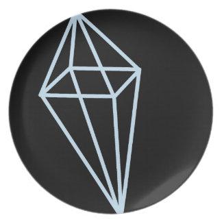 Het geometrische (Lichtblauwe) Bord van de Vorm