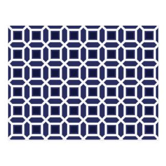 Het geometrische Marineblauwe Patroon van de Briefkaart