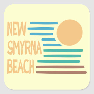 Het geometrische ontwerp van New Smyrna Beach Vierkante Sticker
