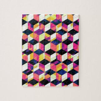 Het geometrische Pop-art van Kubussen Puzzel