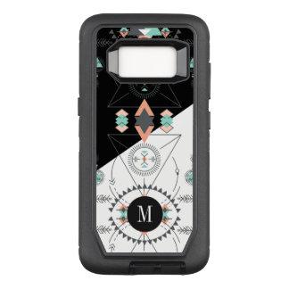 Het geometrische Stammen Moderne Ontwerp van het OtterBox Defender Samsung Galaxy S8 Hoesje
