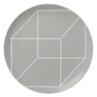 Het geometrische (Witte) Bord van de Vorm