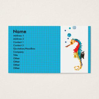 Het geometrische Zeepaardje van de Waterverf van Visitekaartjes