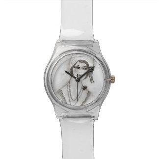 Het geparelde Meisje van de Vin Horloge
