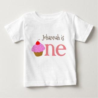 Het gepersonaliseerde 1st Overhemd van Cupcake van Baby T Shirts