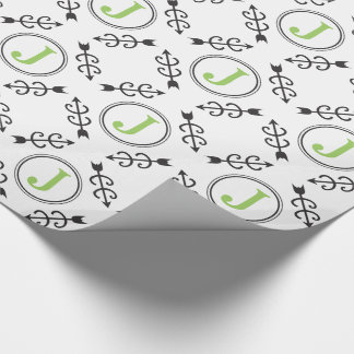 Het gepersonaliseerde Abstracte DwarsMonogram van Inpakpapier