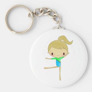 Het gepersonaliseerde accessoire van de Gymnastiek Sleutelhanger