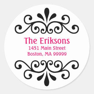 Het gepersonaliseerde Adresetiket van de Rol Ronde Sticker