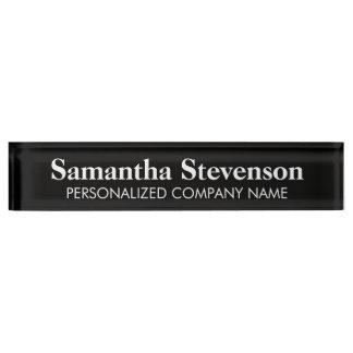 Het gepersonaliseerde bord van de bureaunaam met