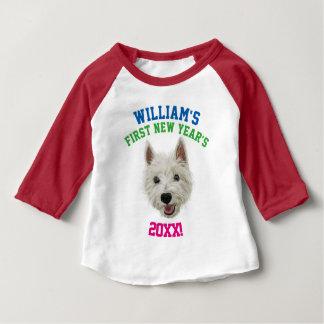 Het gepersonaliseerde Eerste Nieuwjaar van Terrier Shirt