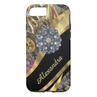 Het gepersonaliseerde elegante elegante gouden iPhone 8/7 hoesje