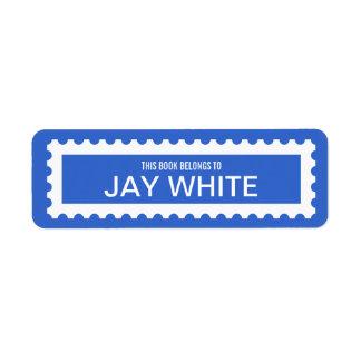 Het gepersonaliseerde Etiket van Bookplate van de