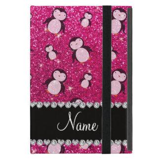 Het gepersonaliseerde hete roze van het naamneon iPad mini hoesje