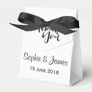 Het gepersonaliseerde Huwelijk dankt u Bedankdoosjes