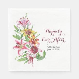 Het Gepersonaliseerde Huwelijk van de Tijger van Papieren Servetten