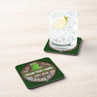 Het gepersonaliseerde Ierse teken van de Bar Bier Onderzetter