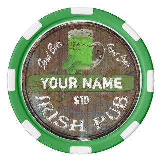 Het gepersonaliseerde Ierse teken van de Bar Pokerchips