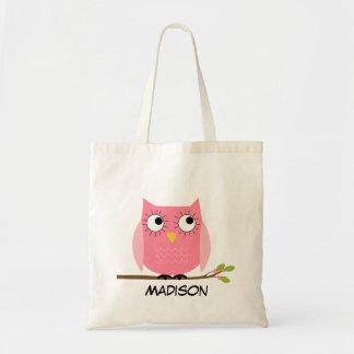 Het gepersonaliseerde kinder Roze Canvas tas van