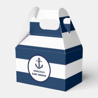 Het gepersonaliseerde Marineblauwe ZeevaartBaby Bedank Doosjes