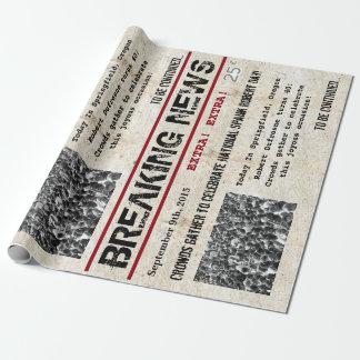 Het gepersonaliseerde Nieuws van de Krantekop van Cadeaupapier