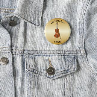 Het gepersonaliseerde Ontwerp van de Cello Ronde Button 5,7 Cm