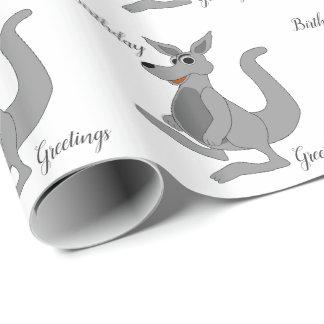 Het gepersonaliseerde Ontwerp van de Kangoeroe Inpakpapier