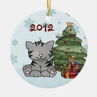 Het gepersonaliseerde Ornament van de Kat van 1st