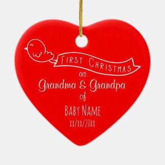 Het gepersonaliseerde Ornament van Eerste Kerstmis
