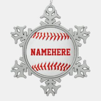 Het gepersonaliseerde Ornament van het Honkbal