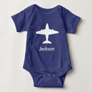 Het gepersonaliseerde Overhemd van het Vliegtuig Romper