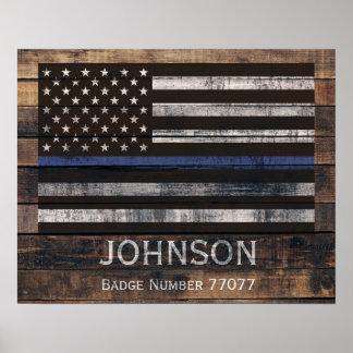 Het gepersonaliseerde Poster van de Politie