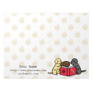 Het gepersonaliseerde Puppy die van Labrador Notitieblok