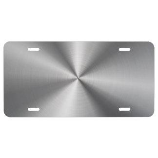 Het gepersonaliseerde Radiale Aluminium kijkt Nummerbord