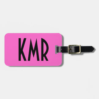 Het gepersonaliseerde Roze en Zwarte Label van de Bagagelabel