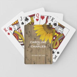 Het gepersonaliseerde Rustieke Hout van de Gunst Speelkaarten