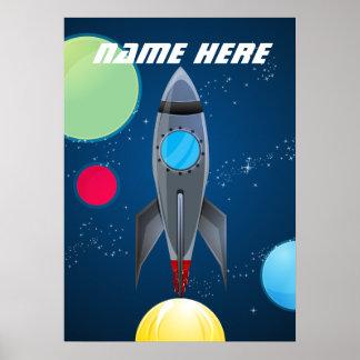 Het gepersonaliseerde Schip van de Raket van de Poster