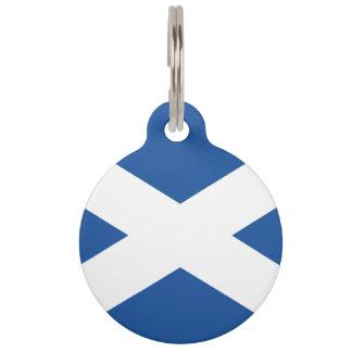 Het gepersonaliseerde Schotse label van het Huisdierpenning