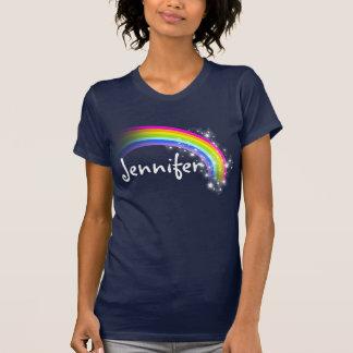 Het gepersonaliseerde t-shirt van regenboogsterren