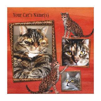 Het gepersonaliseerde Verpakte Canvas van de Kat