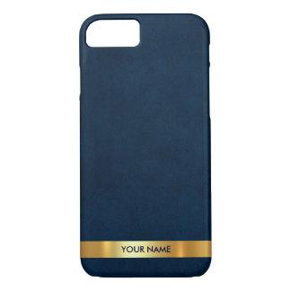 Het gepersonaliseerde Vip Blauwe Mariene Gouden iPhone 7 Hoesje
