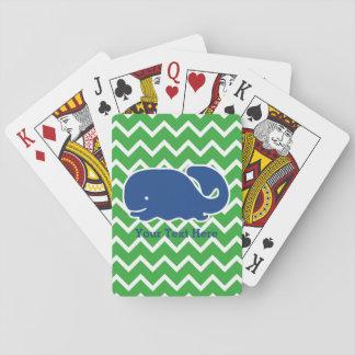 Het gepersonaliseerde Zeevaartpatroon van de Pokerkaarten